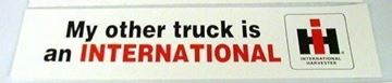 "Picture of ""My other truck is an International,"" bumper stickers"