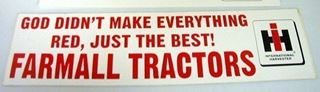 "Picture of ""Farmall Tractors,"" bumper stickers"