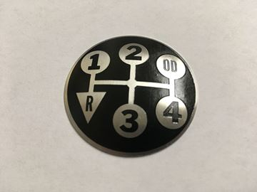 Picture of 5 speed shift knob plate, with OD