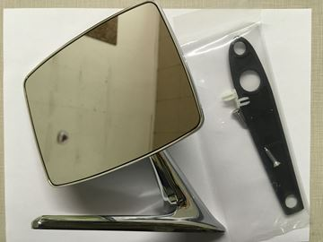 Picture of Chrome Outside Mirror, Scout II, '69-'75 Pickup Travelall