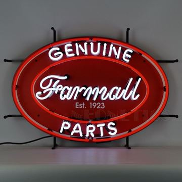 Picture of International Harvester Farmall Genuine Parts Oval Neon Sign