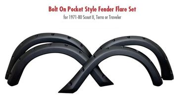 Picture of Bolt On Pocket Style Fender Flare Set for 1971-80 Scout II, Terra or Traveler