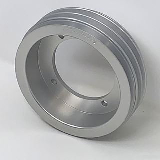 Picture of CPT Billet Aluminum Crankshaft Pulley with Four V Belt Grooves for IH Engine