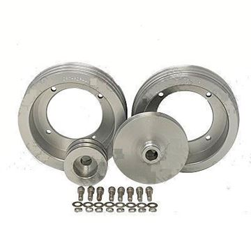 Picture of CPT Billet Aluminum Pulley Kit for 1971-80 Scout II, Terra or Traveler w/ Crank Hub & No A/C