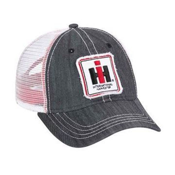 Picture of IH Black Denim w/ White Mesh Trucker