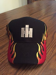 Picture of Silver IH Embroidered FLAME Hat