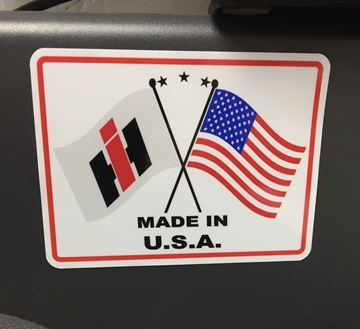 Picture of IH & USA Flag Made in USA Decal