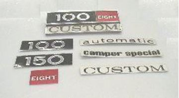 Picture of NOS Pickup and Travelall ID Plate Decals
