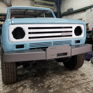 Picture of sSs Warn/Stock Style Front Winch Bumpers  Scout II