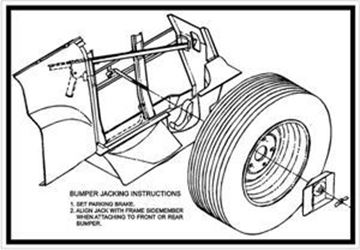 Picture of Bumper Jack instructions decal, 69-75 Pickup Travelall