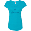 Picture of International Harvester Ladies Teal Ice V Neck Scout Tee