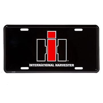 Picture of Black IH Metal License Plate
