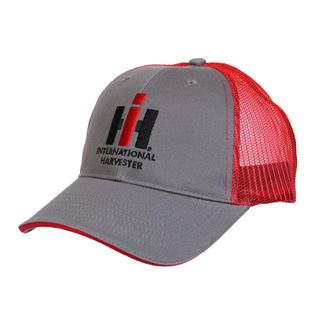 Picture of IH Logo Red & Charcoal Mesh Back Adult Cap